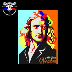 detaliu tricou Isaac Newton