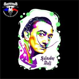 detaliu tricou Salvador Dali 1