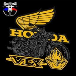 detaliu tricou honda VTX 2