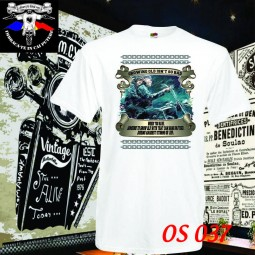 tricou alb growing old