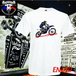 tricou alb he's offroad