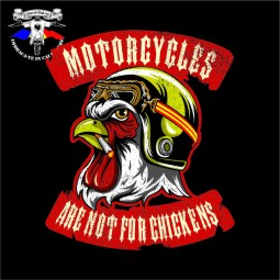 """Caciula """"Motorcycles are not for chickens"""""""