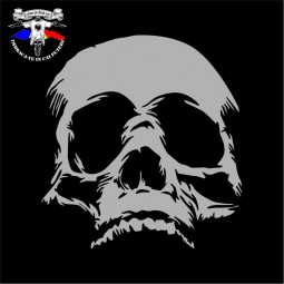 detaliu tricou skull face