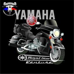 detaliu tricou yamaha royalstar venture black