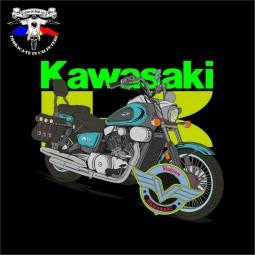detaliu tricou kawasaki vn 1500