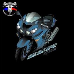 detaliu tricou kawasaki zzr 1400 blue