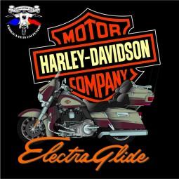 detaliu tricou harley davidson electra glide