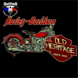 detaliu tricou harley davidson old heritage