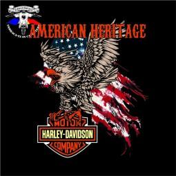 detaliu tricou harley davidson the eagle 1