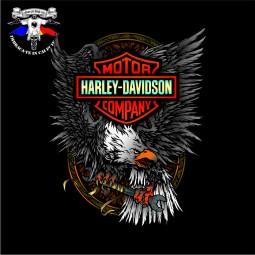 detaliu tricou harley davidson the eagle 3