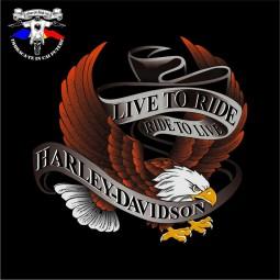 detaliu tricou harley davidson the eagle 5