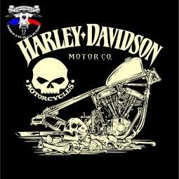 detaliu tricou harley davidson the service