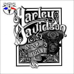 detaliu tricou harley davidson since 1903