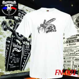 tricou alb hate motorcycles