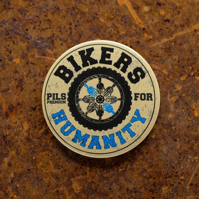 """Desfacator de bere cu magnet frigider """"Bikers For Humanity"""""""