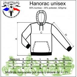 tabel marime hanorac