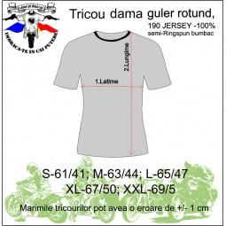 tabel marimi tricou dama