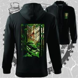 """Hanorac """"Padurea verde 2"""" personalizat printat dtg"""