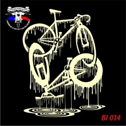 "Hanorac ""Flowing Bicycles"" print dtg personalizat"