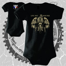 """Body Bebe """"Live fast / Ride free"""" personalizat dtg"""