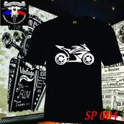tricou negru tribal sport bike