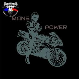 detaliu tricou mans power