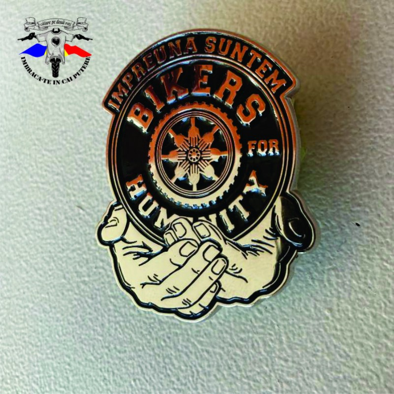 Insigna logo Bikers for Humanity