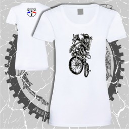 Tricou dama craniu bicicleta