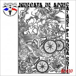 detaliu Tricou alb dama biciclete