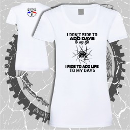 tricou dama alb desing biciclete