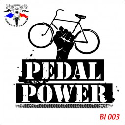 detaliu Tricou alb Pedal Power