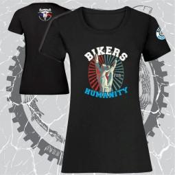 tricou dama negru personalizat dtg bikers for humanity