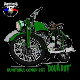 detaliu tricou motocicleta comunista