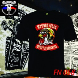 Exemplu Tricou Motorcycles are not for chickens Calare pe doua roti