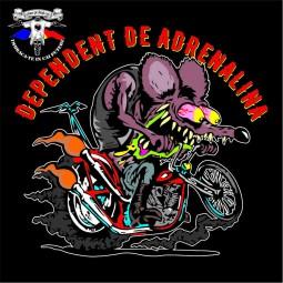 detaliu tricou dependent de adrenalina