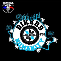 Tricou personalizat dtg Bikers for Humanity Romania
