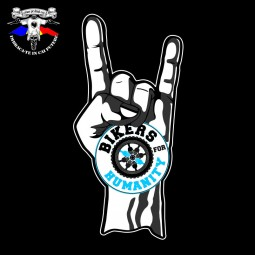 """Tricou personalizat dtg Bikers for Humanity """"rock and roll"""""""