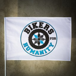 Steag Alb Personalizat Bikers For Humanity