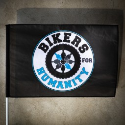 Steag Negru Personalizat Bikers For Humanity