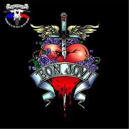 detaliu tricou Bon Jovi