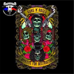 detaliu tricou Guns N Roses